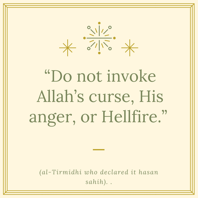 Don't Invite Allah's Curse